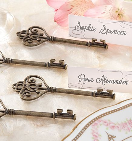 key to my heart key place card holder set of 4