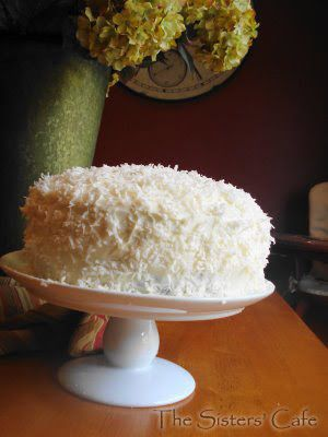 Barefoot Contessa's Coconut Cake//Made this on 9/10/14. It's amaaaazing; really moist and full of flavor. Watch the cooking time; mine were done in about 30 minutes.