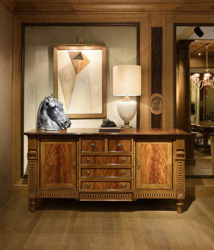 Artistic, classy, vintage and elegant describe this engraved #sideboard perfectly. #hallwayinteriors #livingroominteriors