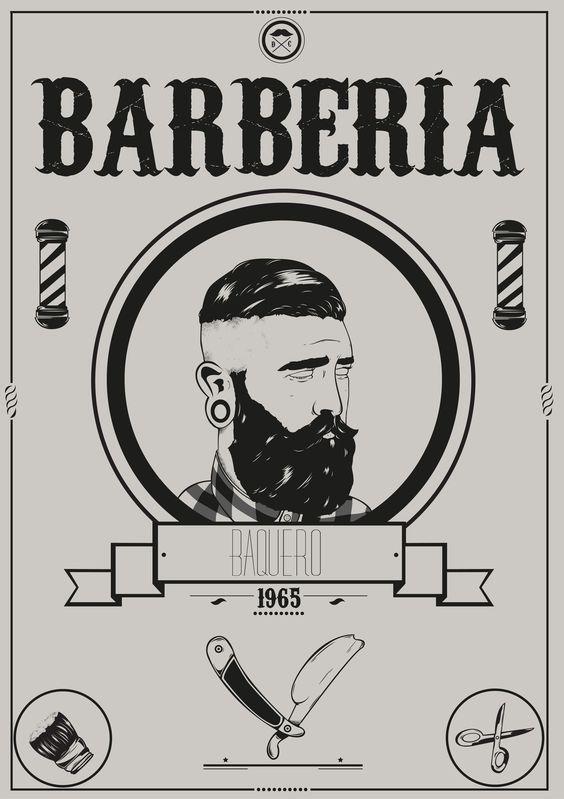 Placa decorativa Barbearia 115 - PLACASPRINT