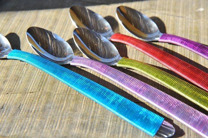 Home deco :: Las cucharas son de Metal Real