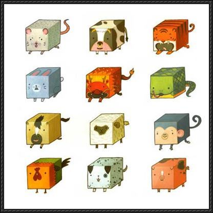 http://www.papercraftsquare.com/wp-content/uploads/2013/06/Cube-ChineseZodiac-Paper-Toys.jpg