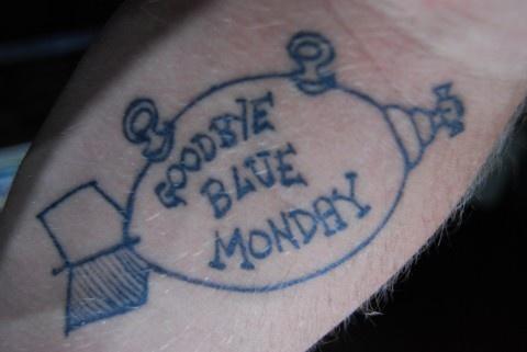 Goodbye Blue Monday illustration tattoo