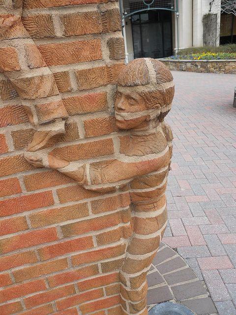 Brick work (art, wall, building, great, amazing, beautiful, cool, interesting, creative).  Um. Wow!