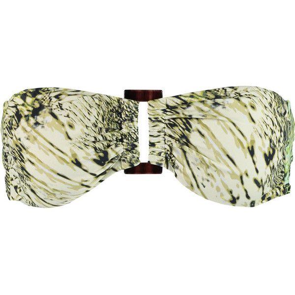 Heidi Klein Printed bandeau bikini top (€71) ❤ liked on Polyvore featuring swimwear, bikinis, bikini tops, bikini, sage green, bandeau tops, bandeau top bikini, swimsuits tops, green bikinis swimwear and multi color bikini