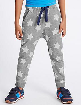 Pure Cotton Star Print Joggers (1-7 Years)