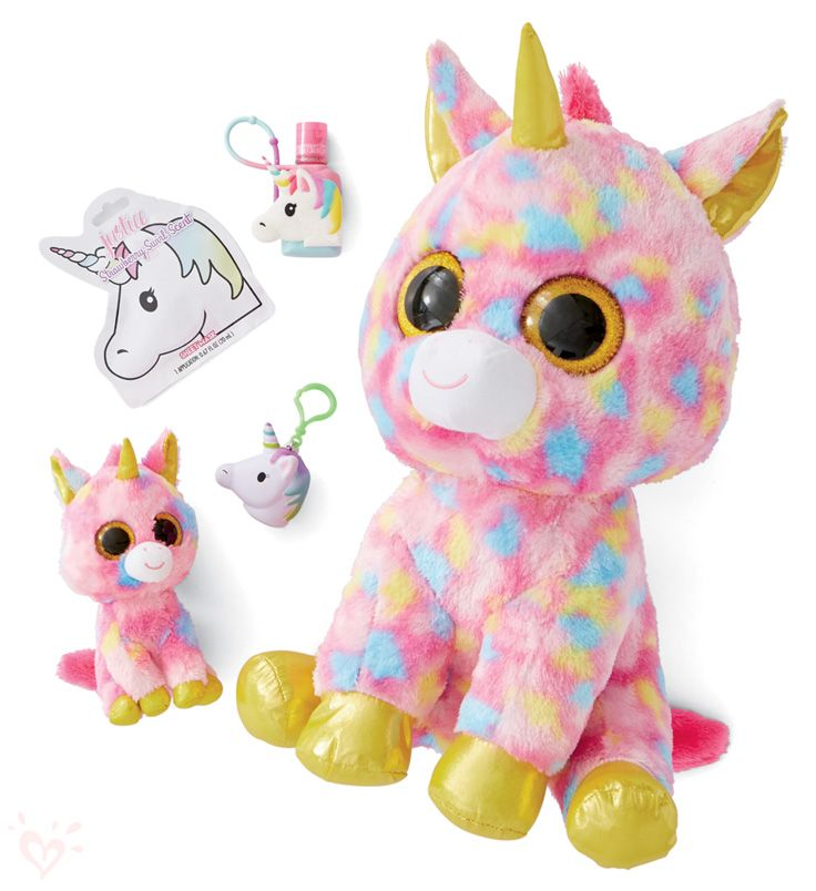 Stuffed animals, face masks and anti-bacs make the perfect gift or favor! #birthdayparty