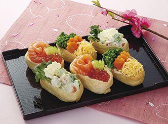 ひな祭り彩いなり寿司