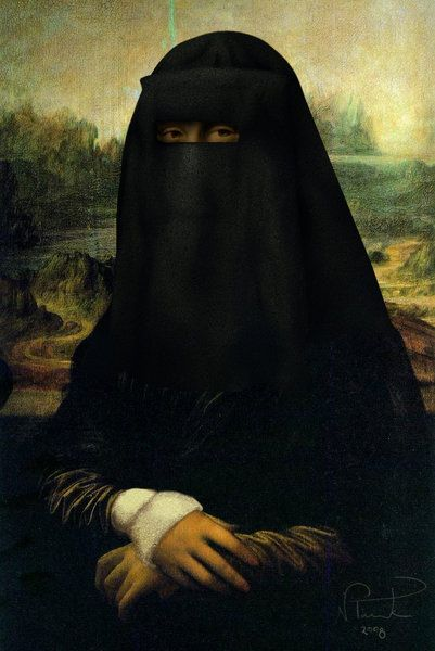 Fatima Lisa. it took a lot of talent to paint this...not.