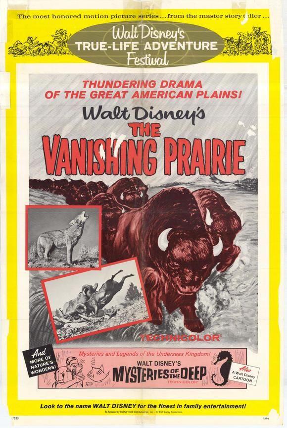 The Vanishing Prairie (1954) disney movie poster