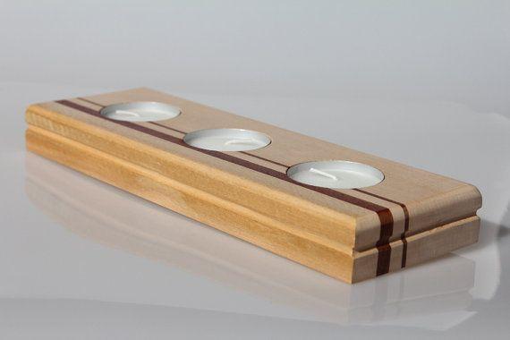 Tea light holder  Candle holder  Wood candle di VenaturArtistica