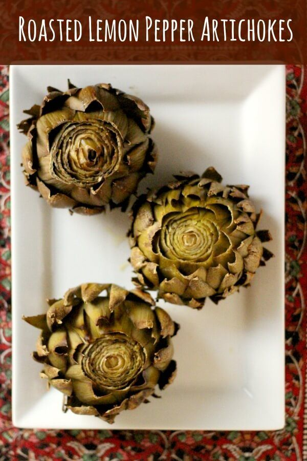 Super easy, delicious Roasted Lemon Pepper Artichokes! So good for you!