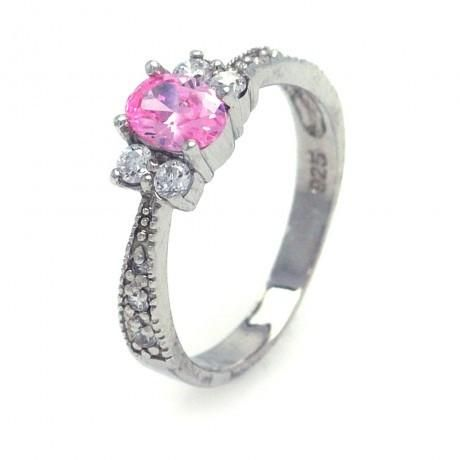 Metal: . 925 Sterling Silver Finish: Nickel Free Rhodium Plated Stones: Ring Measurement: 19mm x 5mm