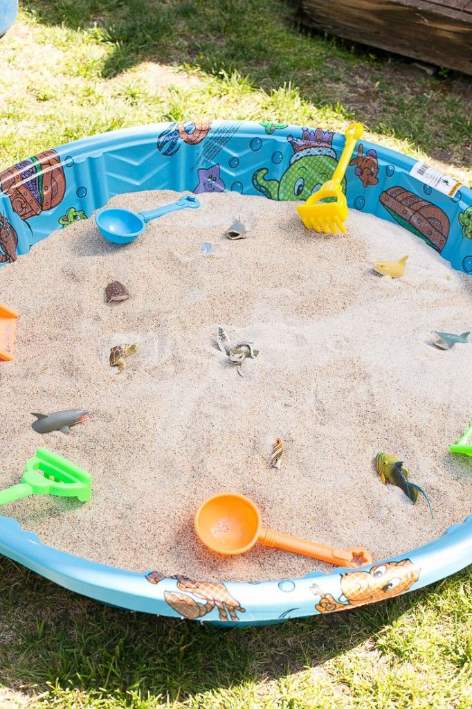 Sand Pit - Dig for buried treasure! Under the Sea birthday party