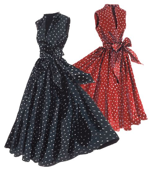 Georgina's Sunset Polka-Dot Dress