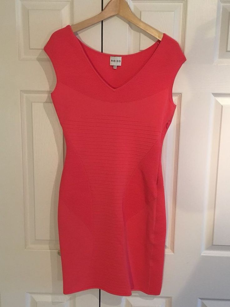 Reiss Dress Perrie Bodycon Stretch Knit Cocktail Size 12 Barely Worn  | eBay