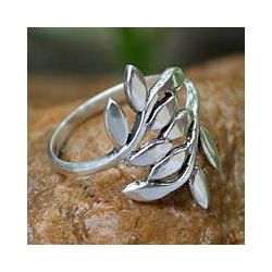 @Overstock.com - Add unique style to your wardrobe with this silver branch wrap ring. This gorgeous ring features a delicate olive branch design that gives the image of wrapping around your finger. This peaceful ring was handmade in Thailands Wadarat Supasirisuk.http://www.overstock.com/Worldstock-Fair-Trade/Sterling-Silver-Olive-Branch-Wrap-Ring-Thailand/5198548/product.html?CID=214117 $25.99