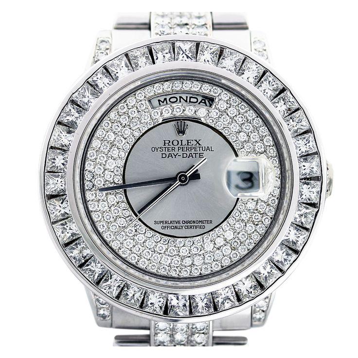 ROLEX White Gold Day-Date Wristwatch