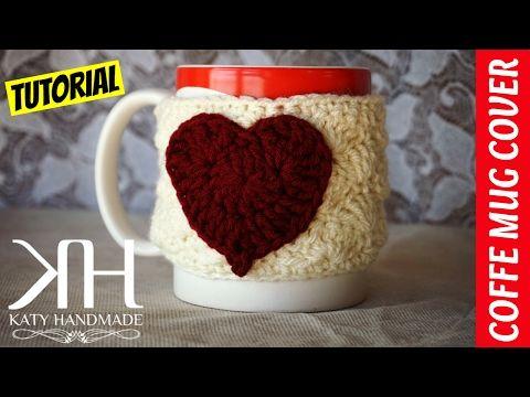 TUTORIAL COPRITAZZA UNCINETTO | COFFEE MUG COVER CROCHET || Katy Handmade - YouTube