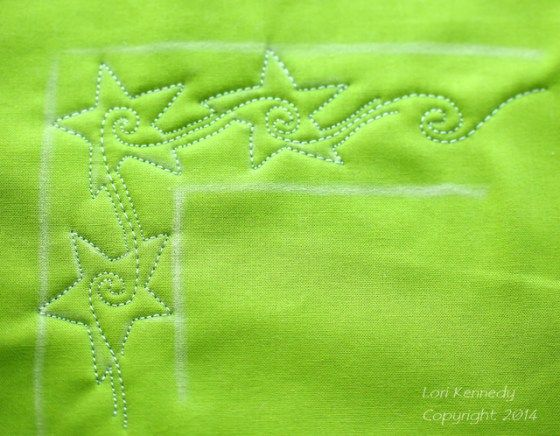 Stars in the Corner, Free Motion Quilting