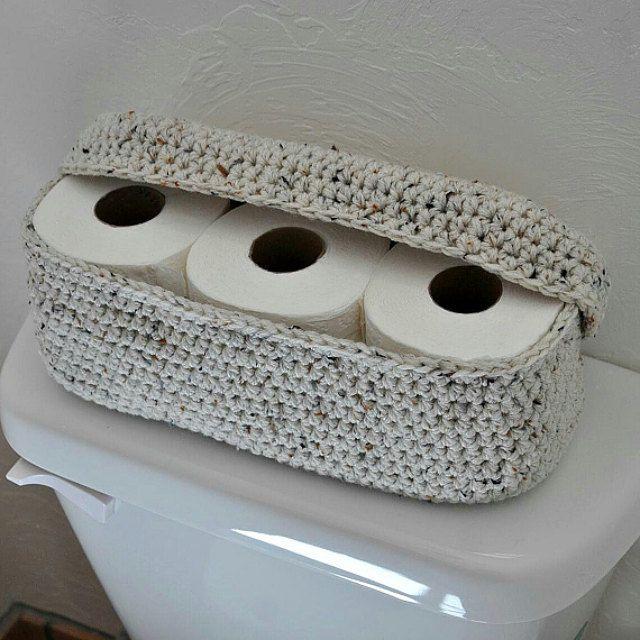 Soporte de rollo de repuesto Cesta de papel higiénico Decoración de baño