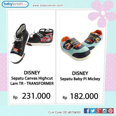 Dapatkan sepatu Disney lucu dengan karakter kesukaan anak Anda di www.babylonish.com  Gratis ongkir Jabodetabek.