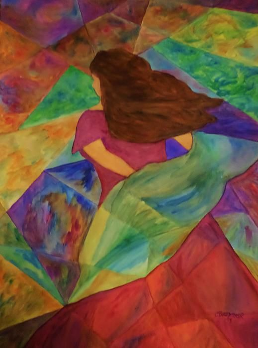 Lady in the colors of the wind