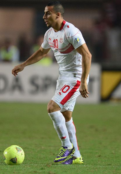 Hatira Anis Ben of Tunisia in action during the FIFA 2014 World Cup qualifier at the Stade Olympique de Radès on October 13, 2013 in Rades, Tunisia.