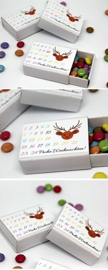 DIY Streichholzadventskalender mit Smarties + Anleitung: DIY, Basteln, Selbermac… – Weihnachten