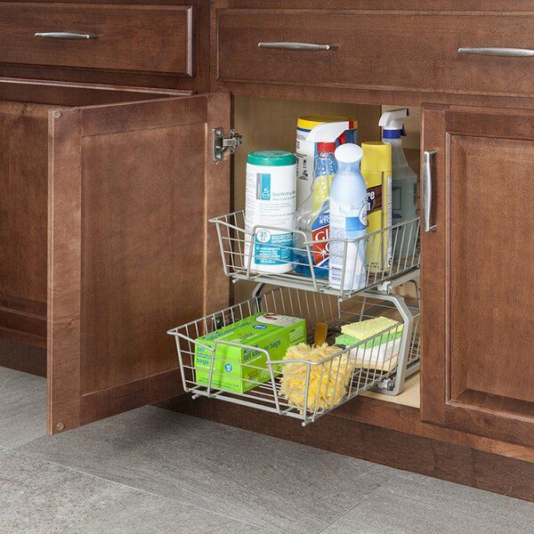 2 Tier Pull Out Drawer In 2020 Cabinet Organization Cabinets Organization Door Organizer