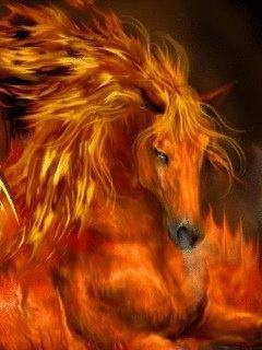 I'm Flame. I wild female horse. I only trust certain people. I'm very kind and protective. ( more info )