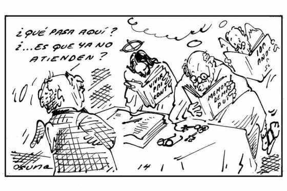 ¿Que pasa aquí? ¿...Es que ya no atienden? #caricatura