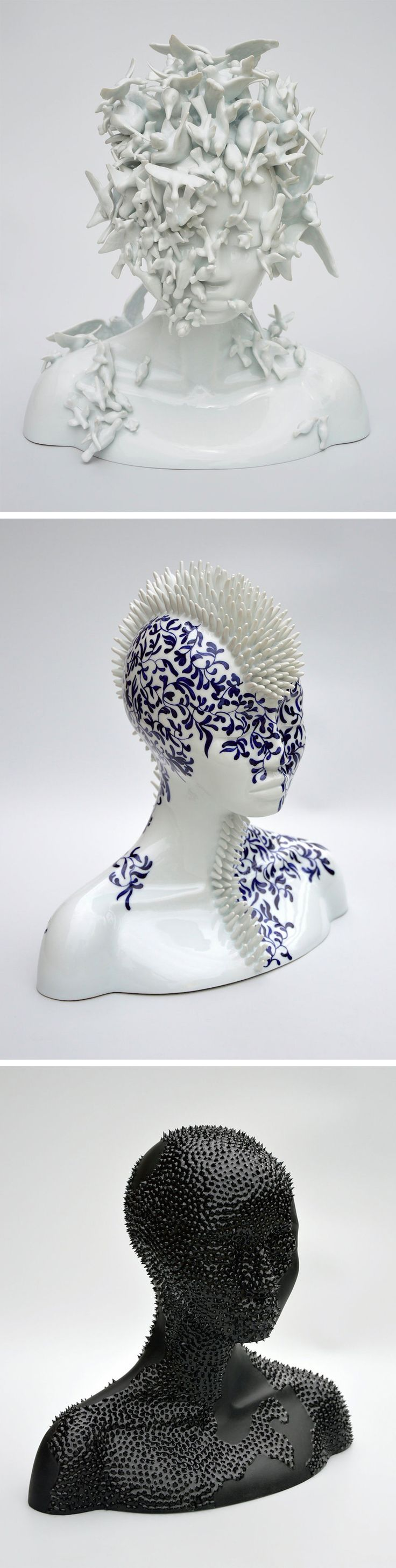 Porcelain Female Forms That Blur the Line Between Humans and Nature by Juliette…