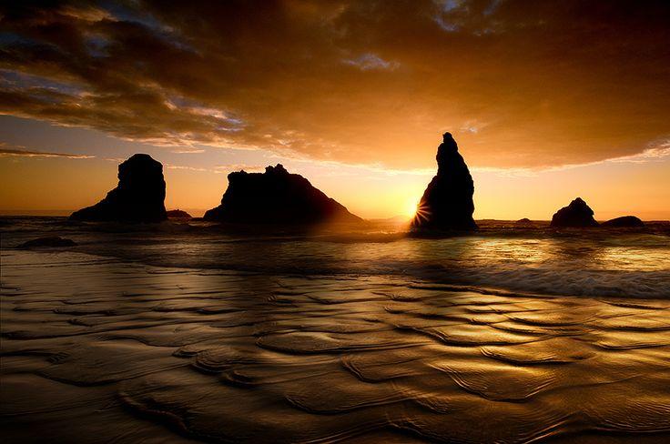 Bandon Beach Sunset by Doug Solis