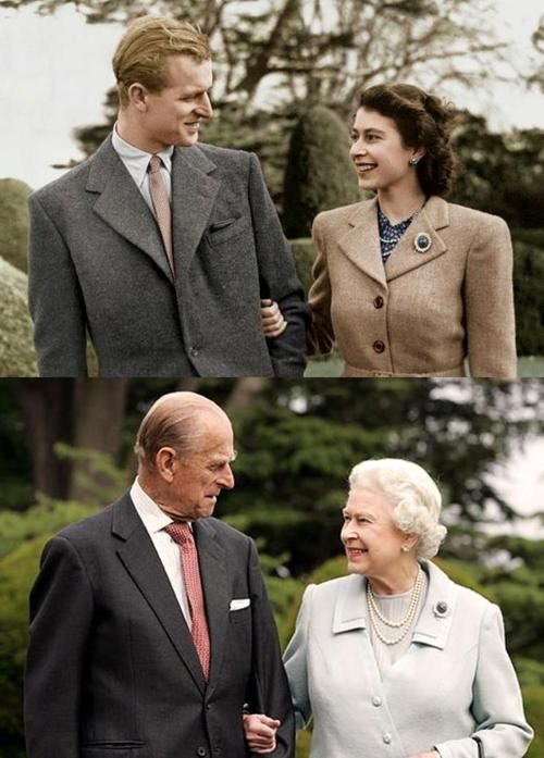 Queen and Prince.......I love these comparison pics!!!!