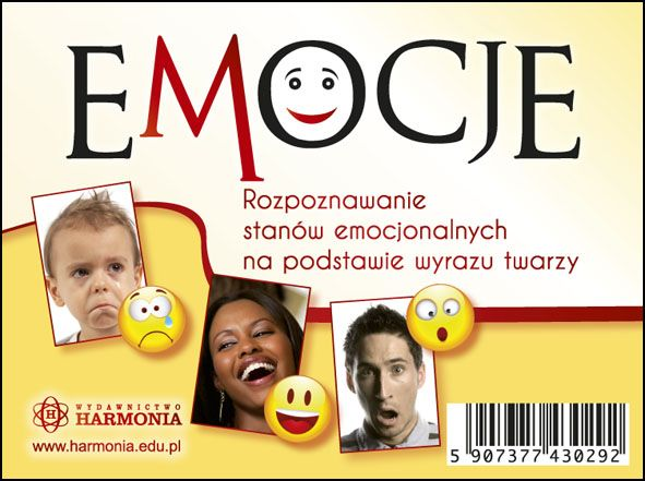 EMOCJE - rozpoznawanie emocji na postawie wyrazu twarzy (zestaw 96 kart)