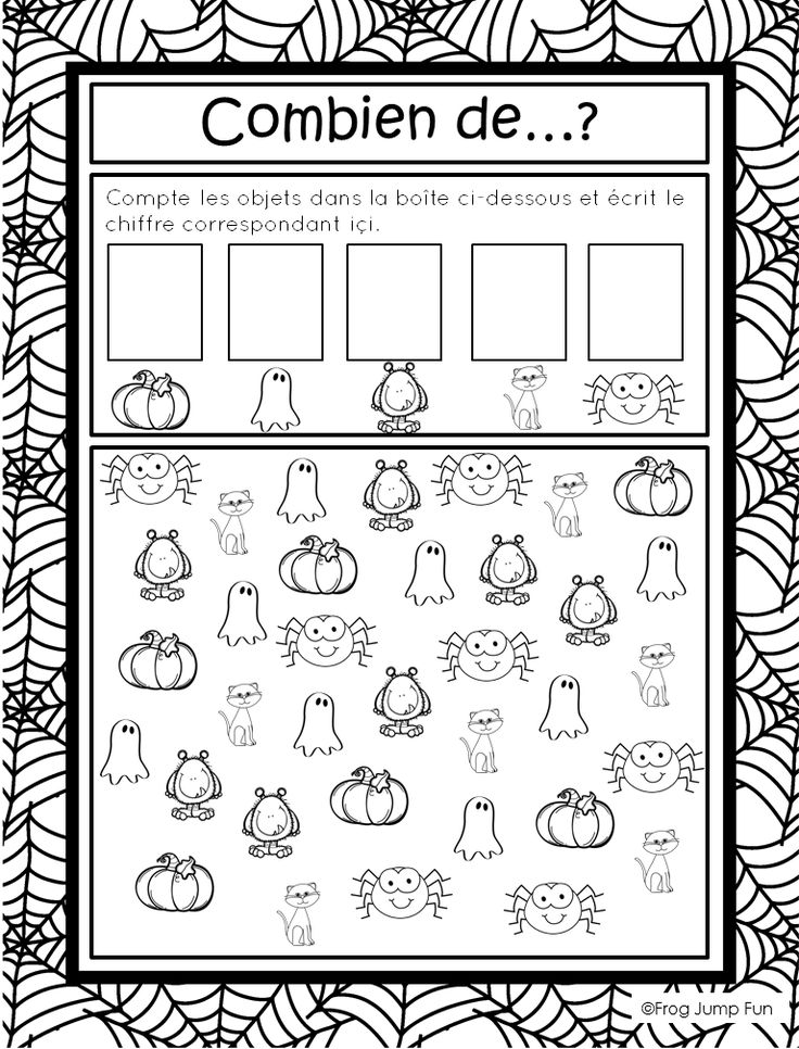 French Halloween Math Pack - Travail de maths au theme de l'halloween