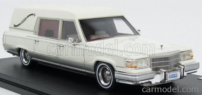 GLM-MODELS GLM43100302 Scale 1/43  CADILLAC EUREKA CONCOURS HEARSE 1991 - FUNERAL CAR - CARRO FUNEBRE WHITE