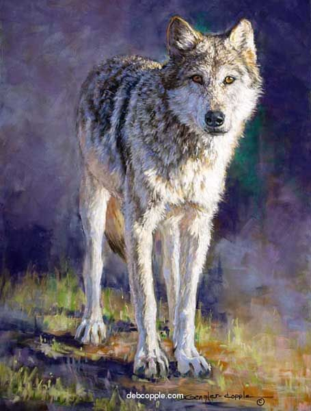 Wolf painting by Deb Gengler-Copple