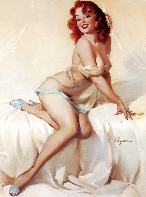 pin up: Gilelvgren, Vintage Illustrations, Vintage Pinup, Pinupgirl, Pinup Girls, Redheads, Pinup Art, Gil Elvgren, Pin Up Girls