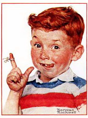 Norman Rockwell Best Paintings Ever | Another lost tooth This actually looks like my ex husband when he was a boy...LOL ~M