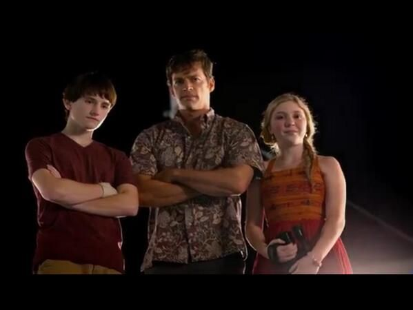 Nathan Gamble, Harry Connick Jr. and Cozi Zuehlsdorff