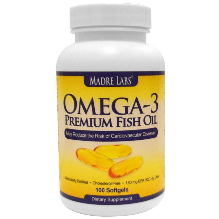 Madre Labs, Omega-3 Premium Fish Oil, 180 mg EPA/120 mg DHA, 100 Softgels - iHerb.com