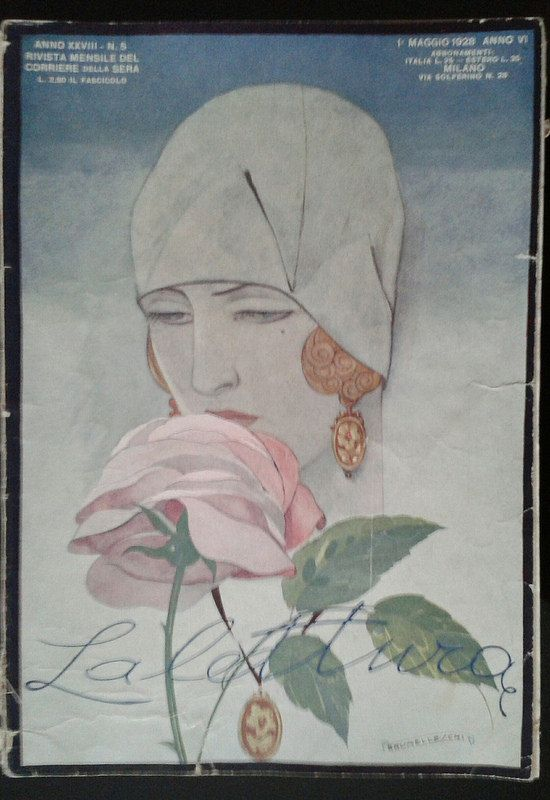 La lettura Italia, 1928 Cover di Umberto Brunelleschi #TuscanyAgriturismoGiratola