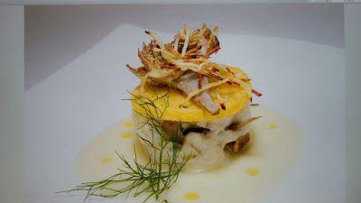 Bauletto di Rombo chiodato con carciofi capuanelli su lastra di polenta | Le ricette di Anna e Flavia