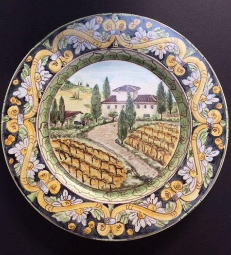 Tuscany plate. by Bluanticoceramics on Etsy