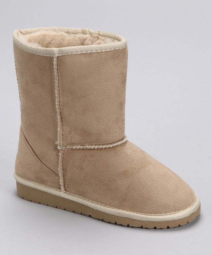 Fake Uggs - Natural Microfiber Boot