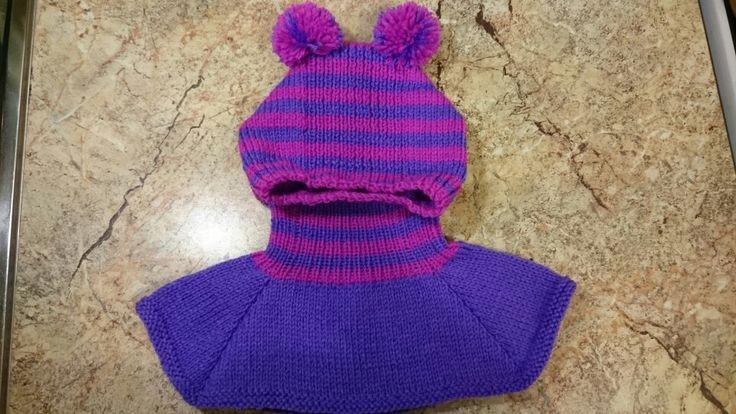 Шапочка-шлем на девочку