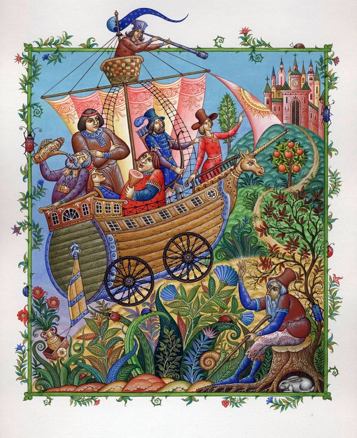 Molodkin Daniil from the Russian Mstera school, Set of illustrations.