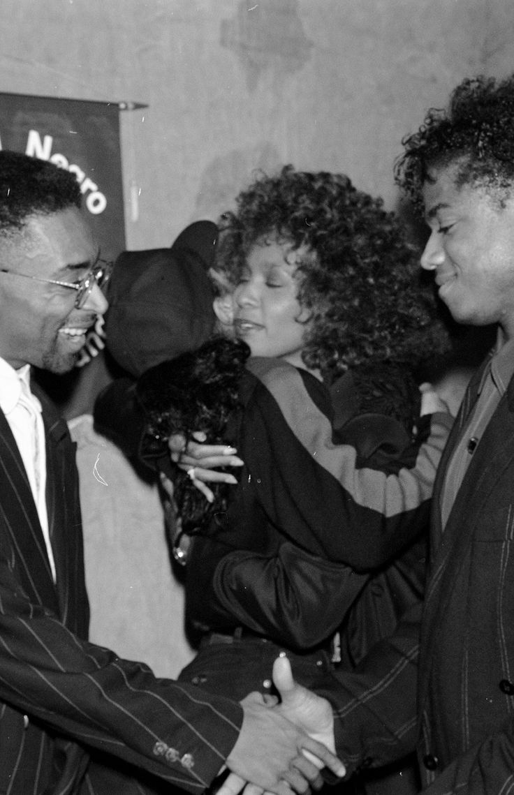 Spike Lee, Whitney Houston, and Randy Jackson! #TheVoice #whitneyhouston